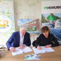 Tekenen aannemersovereenkomst Lindenlaan Patrimonium en Hemubo